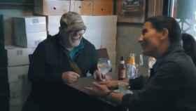 Manuel García Torres durante su conversación con Monasterio.