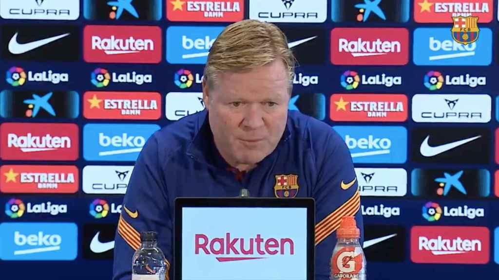 Koeman, en rueda de prensa