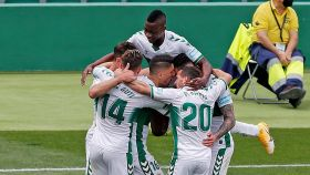El Elche celebra un gol contra el Levante