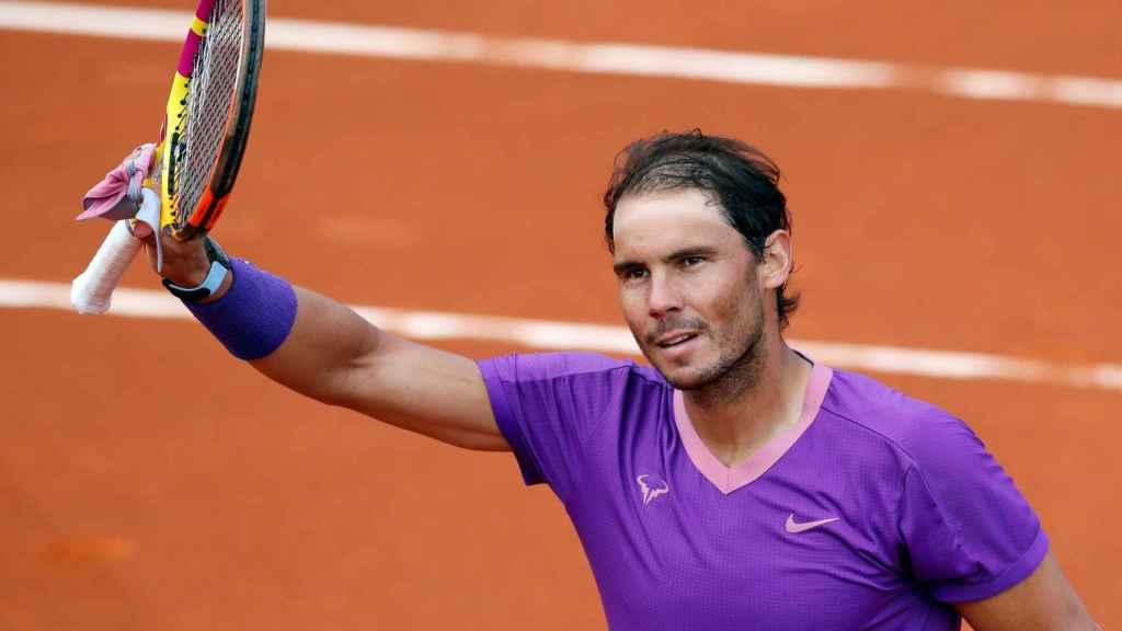 Nadal celebra su victoria frente a Carreño y el pase a la final