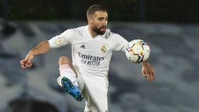 Dani Carvajal, en un partido del Real Madrid en la temporada 2020/2021