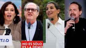 Isabel Díaz Ayuso, Ángel Gabilondo, Roció Monasterio y Pablo Iglesias.