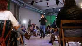 Pablo Iglesias, en un acto de campaña.