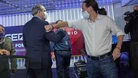 Gabilondo e Iglesias durante el último debate electoral.