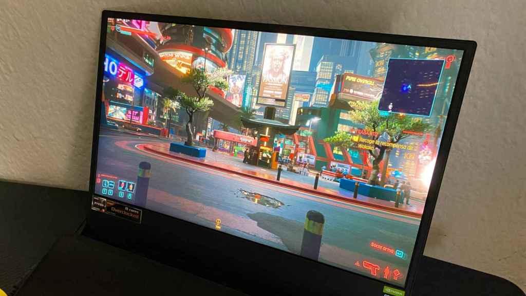 Jugando a Cyberkpunk 2077 con trazado de rayos en el Zephyrus Duo