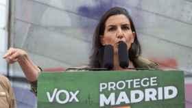 Rocío Monasterio, durante un mitin en Madrid