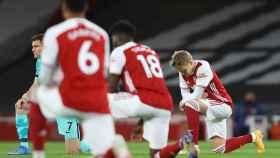 Martin Odegaard, durante un partido con el Arsenal