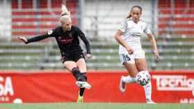 Sofia Jakobsson, en el partido frente al Madrid CFF