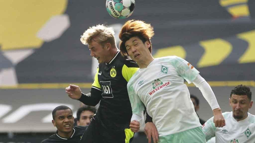 Julian Brandt, durante un partido con el Borussia Dortmund