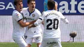 Enes Unal celebra un gol con el Getafe