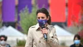 La ministra de Igualdad, Irene Montero, durante un acto de campaña a las elecciones del 4M.