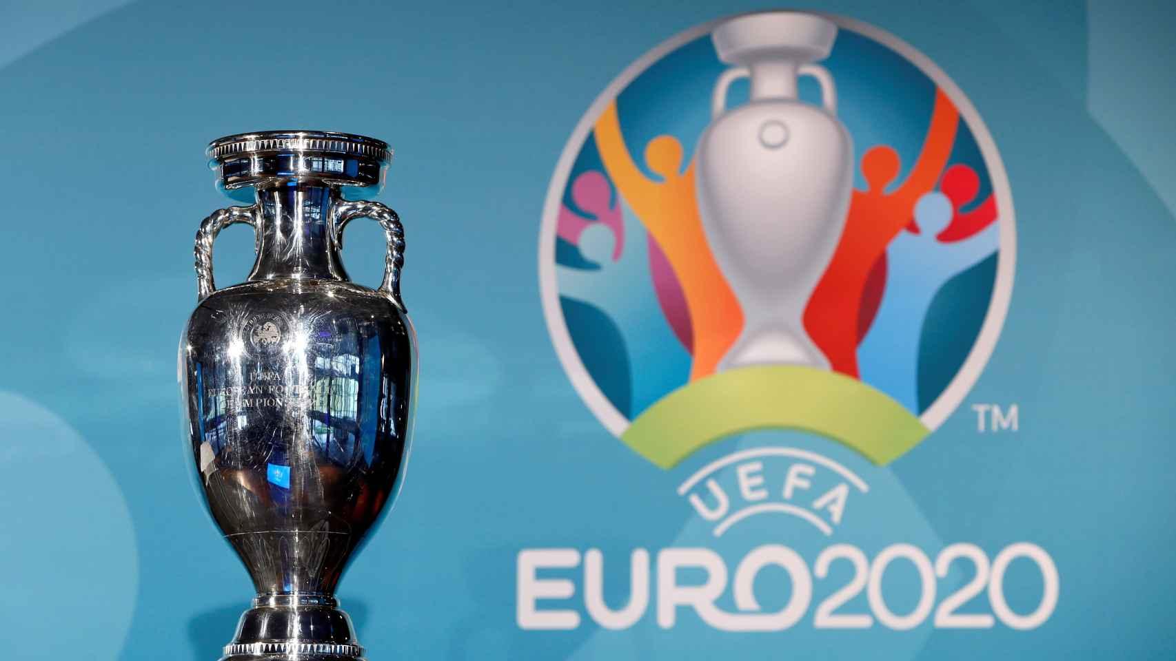 El título de la Eurocopa y el logo de la Euro 2020