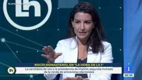 Rocío Monasterio en la entrevista en RTVE.
