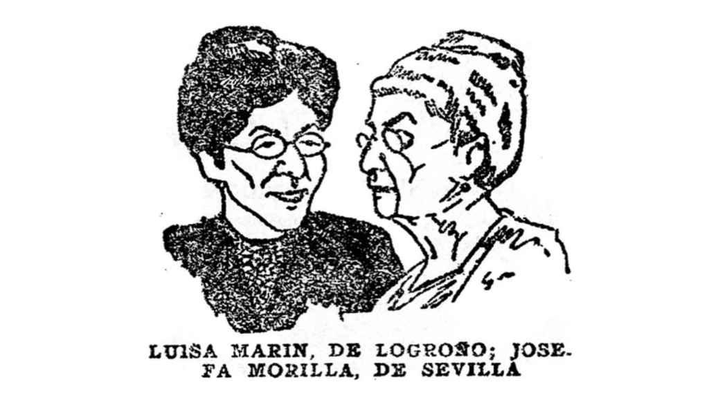 Caricatura de la operaria tabaquera Luisa Marín en 1920.