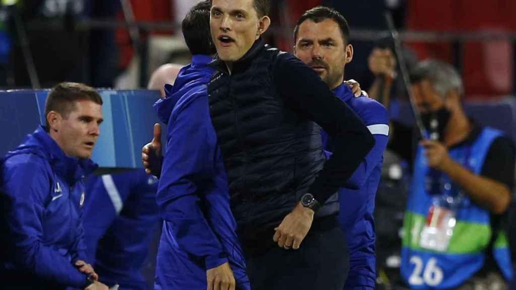 Thomas Tuchel, celebrando el pase a las semifinales de la Champions League