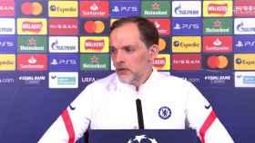 Thomas Tuchel, durante la rueda de prensa previa al encuentro frente al Real Madrid