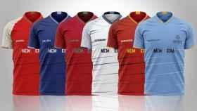 Las camisetas de los equipos ingleses de la Superliga Europea