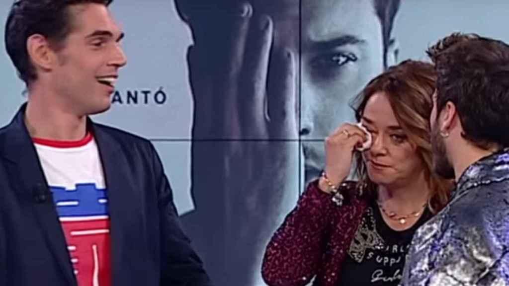 Lobató en el plató de 'Gente maravillosa' emocionando a Toñi Moreno y Blas Cantó en 2018.
