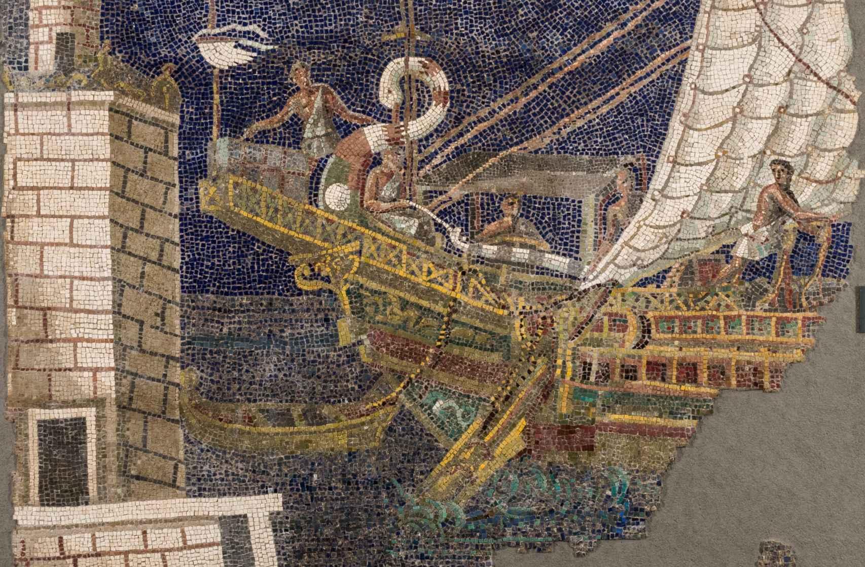Mural expuesto en 'Los colores de los romanos'.