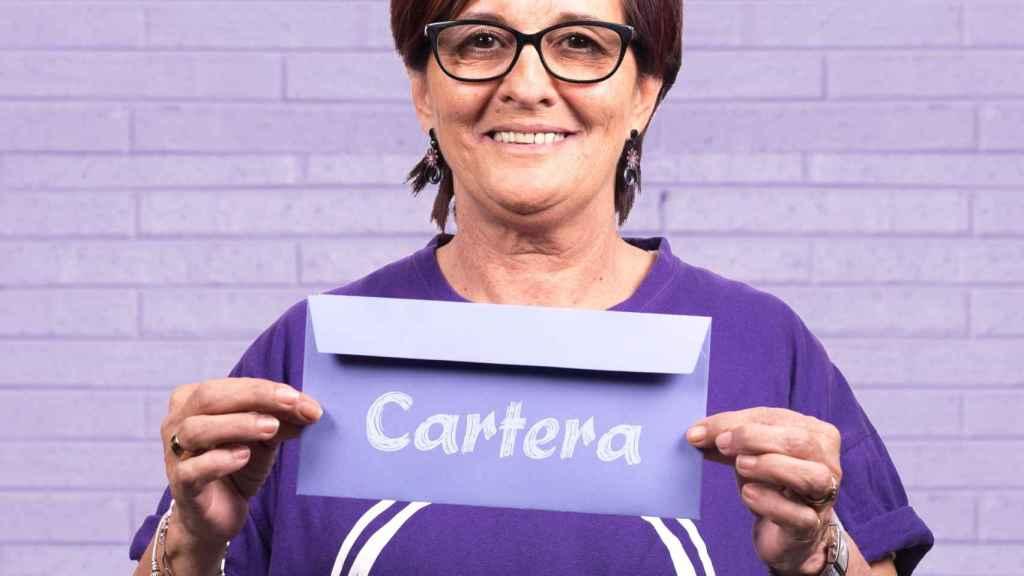 Mercedes Iglesias, en su candidatura al Consejo Ciudadano Autonómico de Podemos (2017).