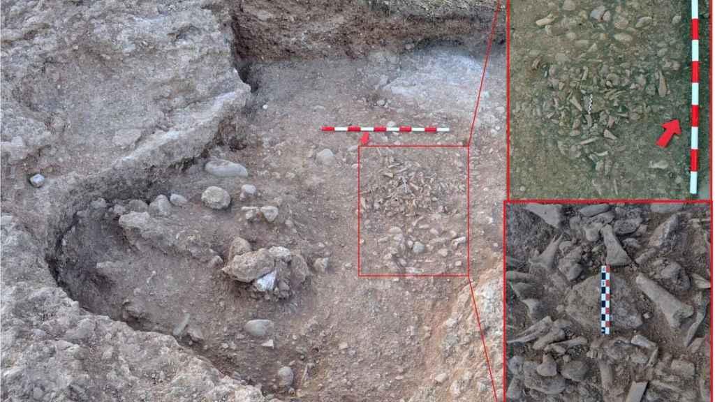 Excavaciones en el basurero del siglo XVI.