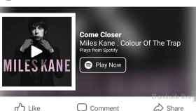 Facebook ya reproduce música de Spotify sin que tengas que salir de la app