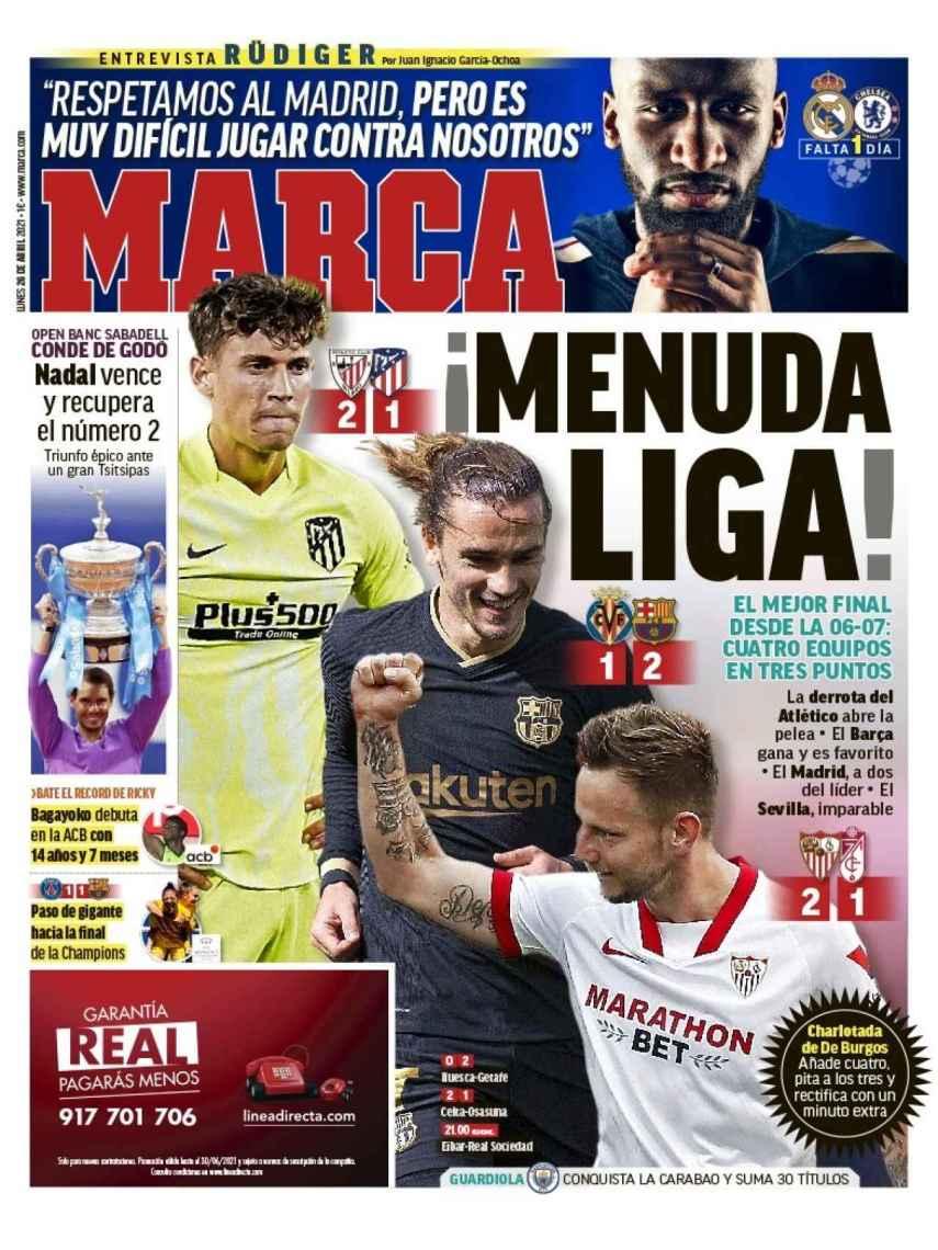 La portada del diario MARCA (26/04/2021)