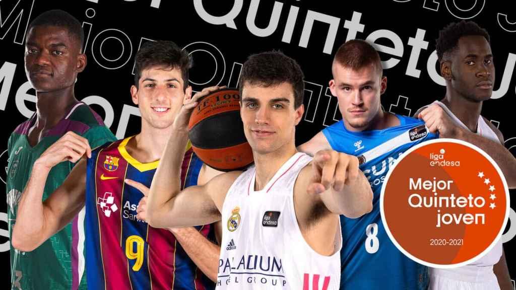 Alocén y Garuba, en el mejor quinteto joven de la ACB 2021