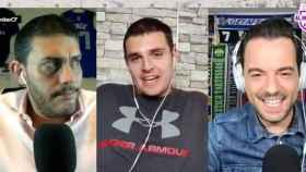 Jorge Calabrés, Iñaki Angulo y Nacho Peña, en El Bunker CF