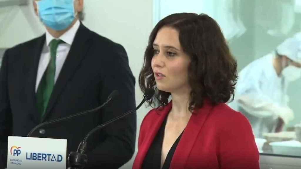 La presidenta de la Comunidad de Madrid, Isabel Díaz Ayuso, este lunes en un acto de campaña.