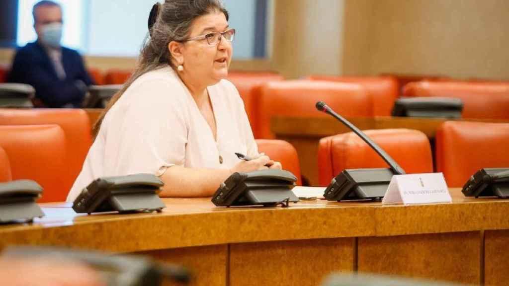 María Esther del Campo García, durante su comparecencia en Comisión Consultiva de Nombramientos.