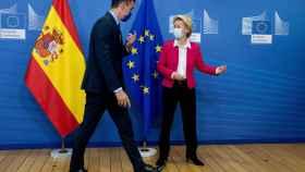 Pedro Sánchez y Ursula von der Leyen, durante una reunión en  Bruselas