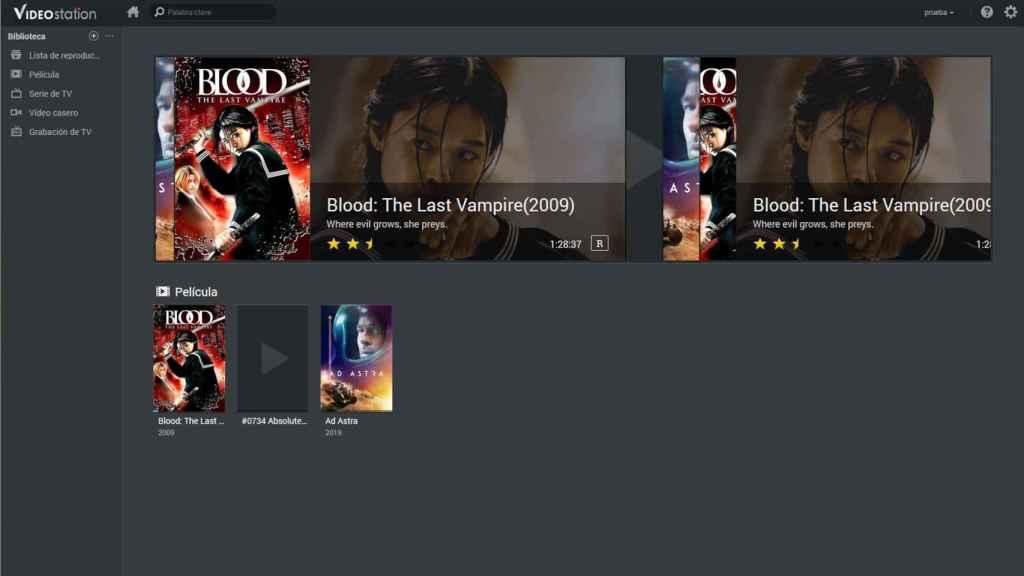 Video Station en un NAS de Synology es una alternativa a Netflix