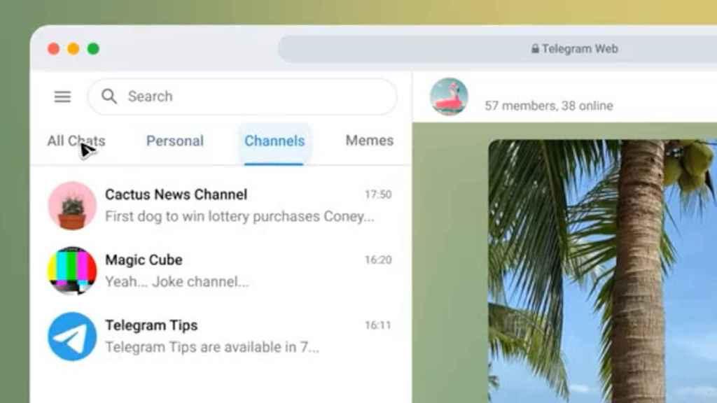 Nuevo Telegram Web