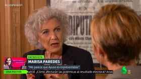 Marisa Paredes en su paso por 'Liarla Pardo'.