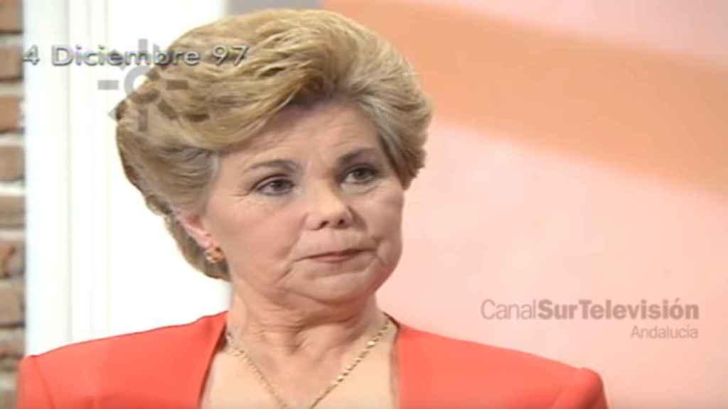 Ana Orantes en su paso por la televisión andaluza, donde contó su maltrato 13 días antes de ser asesinada.