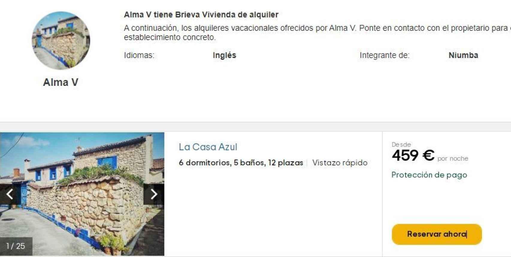 La nieta de Lucía Bosé gestiona los alquileres de la vivienda de la fallecida actriz italiana.
