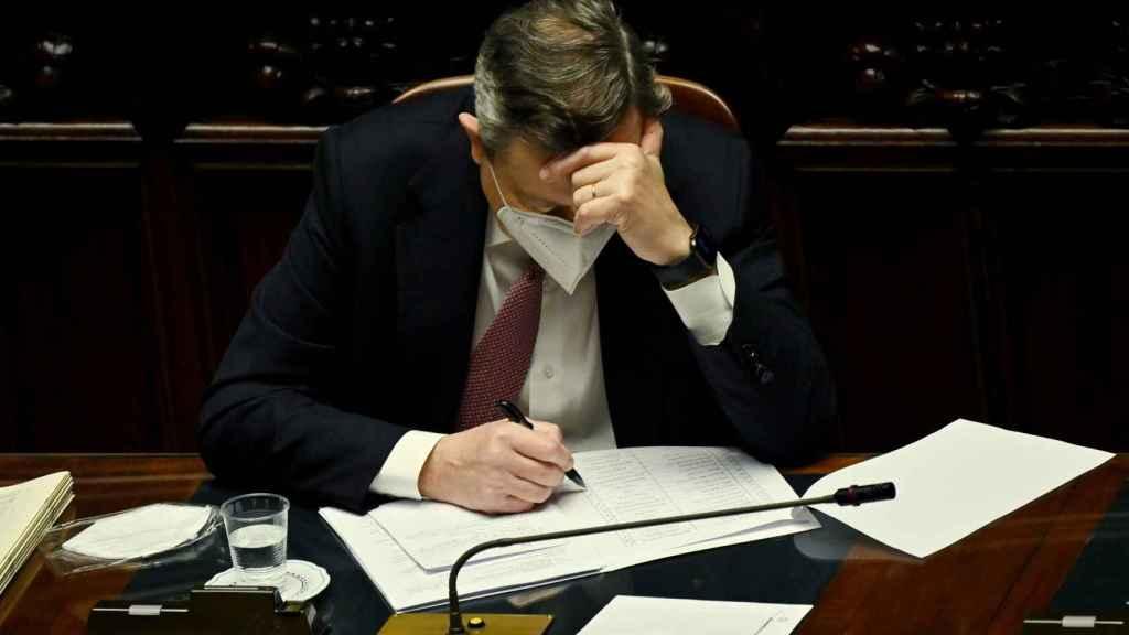 Mario Draghi, durante la presentación de su plan de reformas en Roma este lunes
