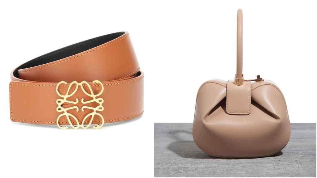 Cinturón de Loewe y bolso, modelo Nina, de Gabriela Hearst.