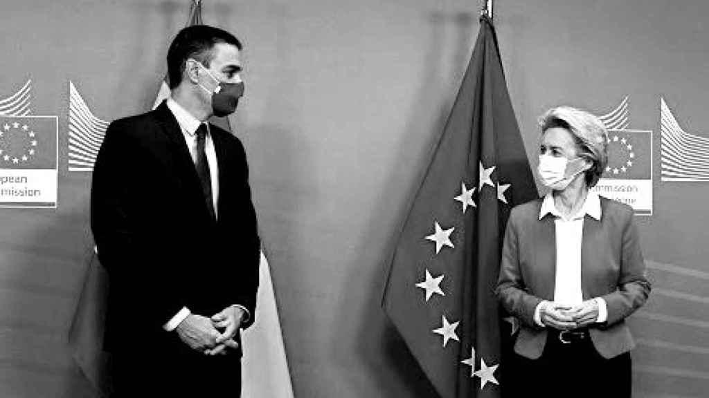 Pedro Sánchez y Ursula von der Leyen.