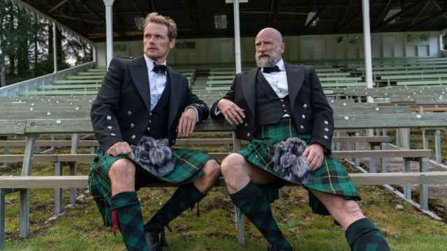 Sam Heughan y Graham McTavish.
