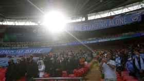 Las gradas del estadio de Wembley, con público en las gradas para la final de la Carabao Cup