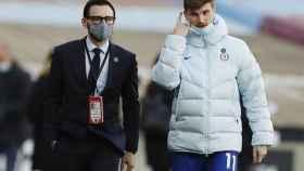 Timo Werner, en un partido con el Chelsea