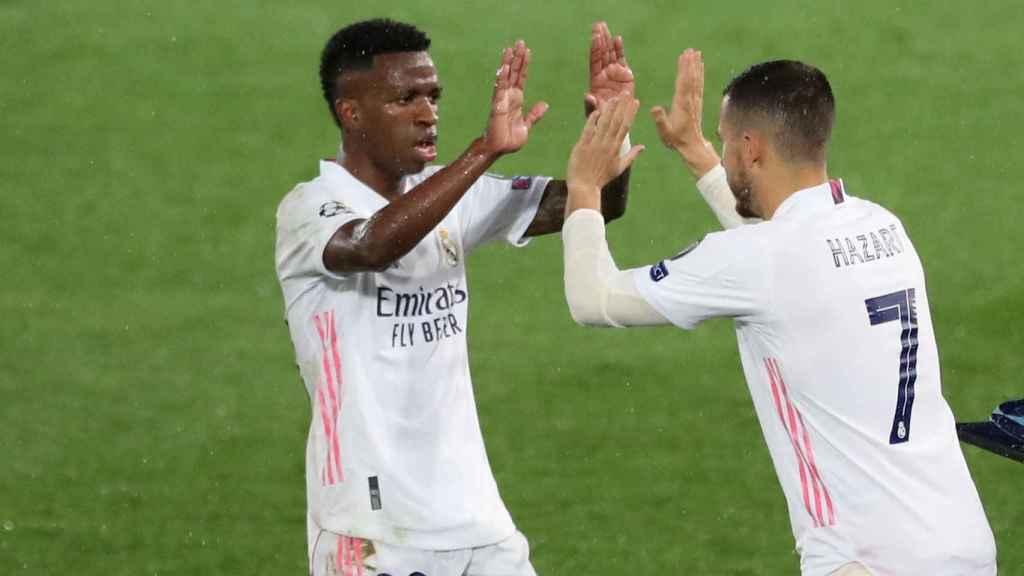 Eden Hazard sustituye a Vinicius Junior