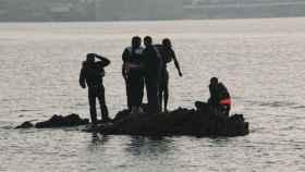 La llegada de marroquíes a Ceuta.