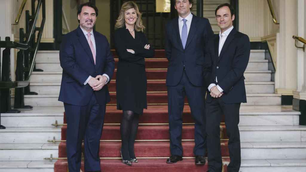 Jorge Coca, Ana Guzmán, Borja Durán e Iker Barrón, responsables de Wealth Solutions y Portocolom.
