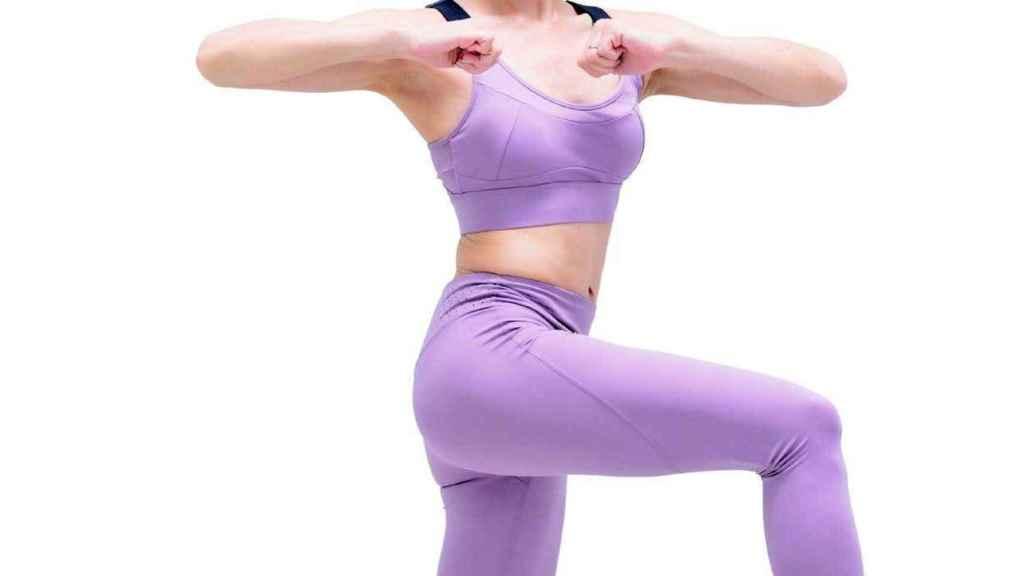 Mariko, en uno de los ejercicios de este método japonés.