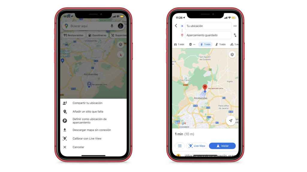 Google Maps also allows you to find a car with your mobile.