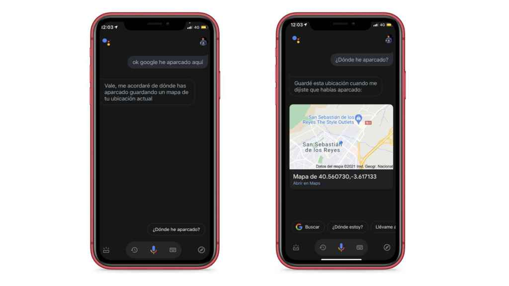 With the Google assistant you can also know where the car is parked.