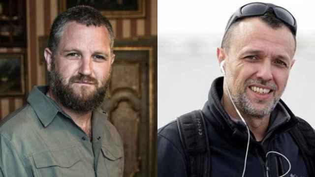 Beriáin (izquierda) y Fraile, asesinados este martes mientras hacían un documental en Burkina Faso